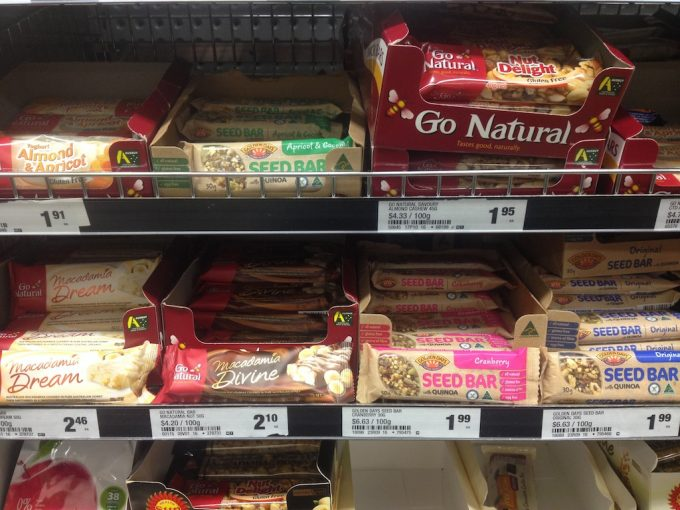 seed bar, nuts bar, muesli bar